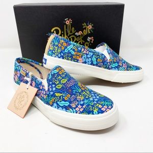 Keds x Rifle Paper Co. Blue Floral 6.5